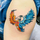 phoenix color tattoo
