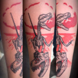 dinosaur skeleton tattoo