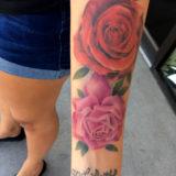 realistic roses tattoo