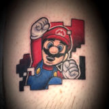 Mario game tattoo