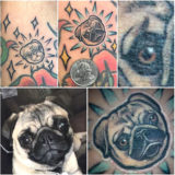 pug portrait tattoo