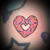 heart donut tattoo