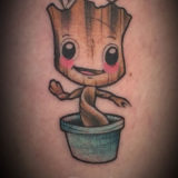 marvel groot tattoo