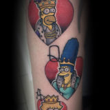 simpsons character tattoo