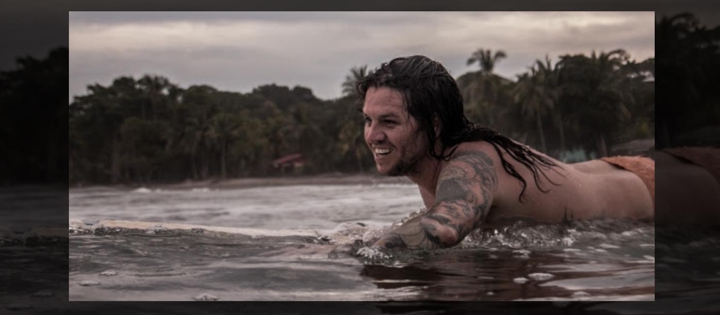 josh Sutcliffe surfing