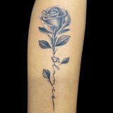 stemmed rose tattoo