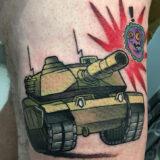 army tank tattoo