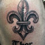Fleur de les tattoo