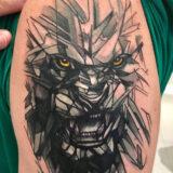 color factual lion tattoo