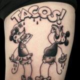 mickey and mini taco tattoos