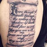 script bibal verse tattoo